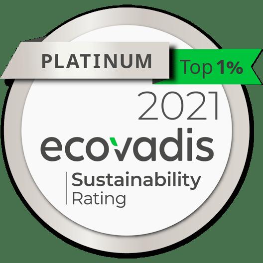 EcoVadis - 2021 Platinum Medal